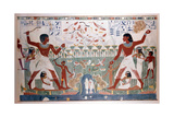 Ancient Egyptians Hunting Wildfowl with Throwing Sticks