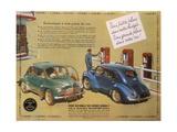 Poster Advertising a Renault 4Cv  1949