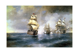 Brig Mercury Attacked by Two Turkish Ships on May 14th  1829  1892