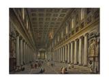 Interior of the Santa Maria Maggiore in Rome  1750S