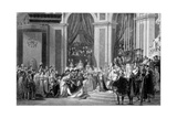 The Consecration of the Emperor Napoleon and the Coronation of the Empress Josephine  1804