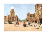 The Municipal Offices and Victoria Terminus  Bombay  India  Early 20th Century