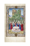The Nine Muses with Pegasus and Mount Helicon (From Argumentum by Guarinus Veronensi)  1485-1499
