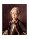Portrait of Count Nikolai Petrovich Sheremetev as Child  1750S