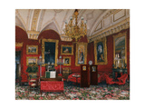 Interiors of the Winter Palace  the Study of Grand Princess Maria Nikolayevna  End of 19th C