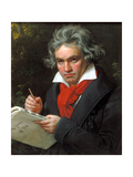 Portrait Ludwig Van Beethoven When Composing the Missa Solemnis  1820