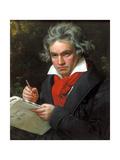 Portrait Ludwig Van Beethoven When Composing the Missa Solemnis, 1820 Giclée par Joseph Karl Stieler