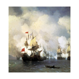 The Naval Battle of Chesma on 5th July 1770  1848