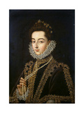 Portrait of the Infanta Catherine Michelle of Spain  (1567-159)  1582-1585