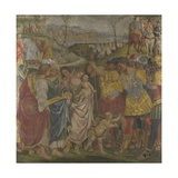 Coriolanus Persuaded by His Family to Spare Rome (Frescoes from Palazzo Del Magnifico  Sien)  1509