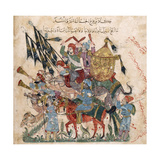 Caravan of Pilgrims in Ramleh (From a Manuscript of Maqâmât of Al-Harîr)  1237