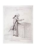 The Bottomless-Pitt'   Pitt Making a Speech  London  1792