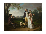 Niels Ryberg with His Son Johan Christian and His Daughter-In-Law Engelke  Née Falbe  1797