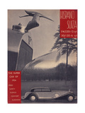 Poster Advertising Hispano-Suiza Cars  1934