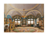 Interiors of the Winter Palace  the Corner Drawing Room of Emperor Nicholas I  Mid of the 19th C
