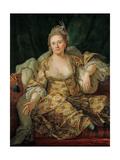 Portrait of Annette Duvivier  Comtesse De Vergennes  in Oriental Costume  Second Half of the 18th C