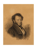 Portrait of the Author Alexander S Pushkin (1799-183)  1827