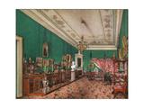 Interiors of the Winter Palace  the Bedroom of Grand Princess Maria Nikolayevna  1837