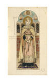 Eudoxia of Moscow (Study for Frescos in the St Vladimir's Cathedral of Kie)  1884-1889