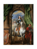 Equestrian Portrait of Charles I  King of England (1600-164) with M De St Antoine  1633