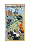 Miniature from Yusuf and Zalikha (Legend of Joseph and Potiphar's Wif) by Jami  Ca 1683-1685