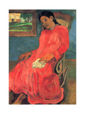 Woman in Red Dress  1891