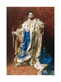 Ludwig II as the Grand Master of the Order of the Knights of St George  1887