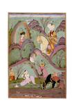 Khusraw Beholding Shirin Bathing  C 1720-1740
