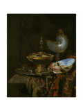 Pronk Still Life with Holbein Bowl  Nautilus Cup  Glass Goblet and Fruit Dish  1678