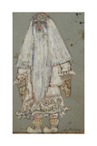 Ded Moroz Costume Design for the Theatre Play Snow Maiden by A Ostrovsky  1912