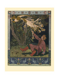 Illustration for the Fairy Tale of Ivan Tsarevich  the Firebird  and the Gray Wolf  1902