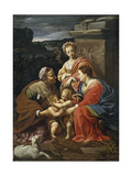 Virgin and Child with John the Baptist as a Boy  Saint Elizabeth and Saint Catherine  1625-1626