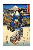 Nihonbashi in Edo  1852