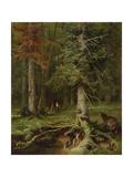 Little Red Riding Hood, 1887 Giclée par Juli Julievich Klever