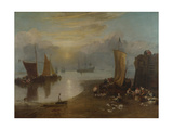 Sun Rising Through Vapour  Fishermen Cleaning and Selling Fish  1804-1806