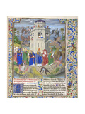 Fortress of Faith (Miniature of the Saints Gregory  Augustine  Jerome  and Ambrose Fighting Demon)