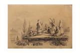 Georgian Women on the Roof (Lezghink)  1837