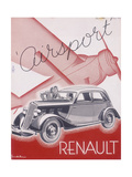 Poster Advertising Renault Cars  1934