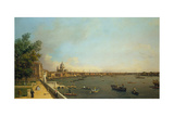 London the Thames from Somerset House Terrace Towards the City  Ca 1751