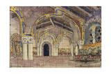 Stage Design for the Opera the Tsar's Bride by N Rimsky-Korsakov  1899