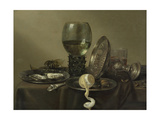 Still Life with Oysters  a Rummer  a Lemon and a Silver Bowl  1634