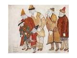 Peoples Costume Design for the Opera Prince Igor by A Borodin  1914