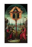 Altarpiece: the Trinity  the Virgin  Saint John and Donors  C 1480