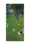 After the Rain (Garden with Chickens in St. Agath), 1898 Giclée par Gustav Klimt