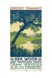 Kenwood and Hampstead Heath  London County Council (LC) Tramways Poster  1928