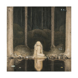 Princess Tuvstarr Is Still Sitting There Wistfully Looking into the Water, 1913 Giclée par John Bauer