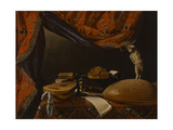 Still Life with Musical Instruments  Books and Sculpture  C 1650