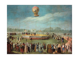 Ascent of a Balloon in the Presence of the Court of Charles IV  Ca 1783