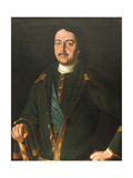 Portrait of Emperor Peter I the Great (1672-172)  1758