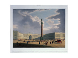 The Alexander Column View from the Main Army Headquarters  1840S